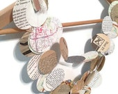 RESERVED 100ft Paper Circle Garland recycled upcycled book page