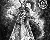 Loki Original Ink Drawing and Print