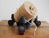RESERVED - Industrial Cast Iron 3 Wheel Desk-top Caster Cart
