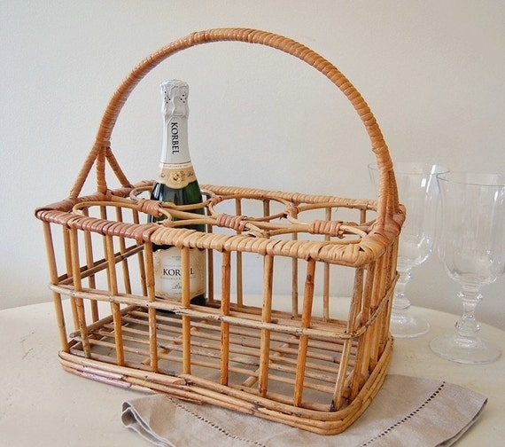 Wicker Wine Bottle Basket