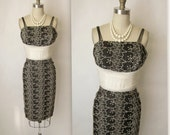 50's Wiggle Dress // Vintage 1950's Hourglass Marilyn Monroe Cocktail Party Wiggle Dress XS