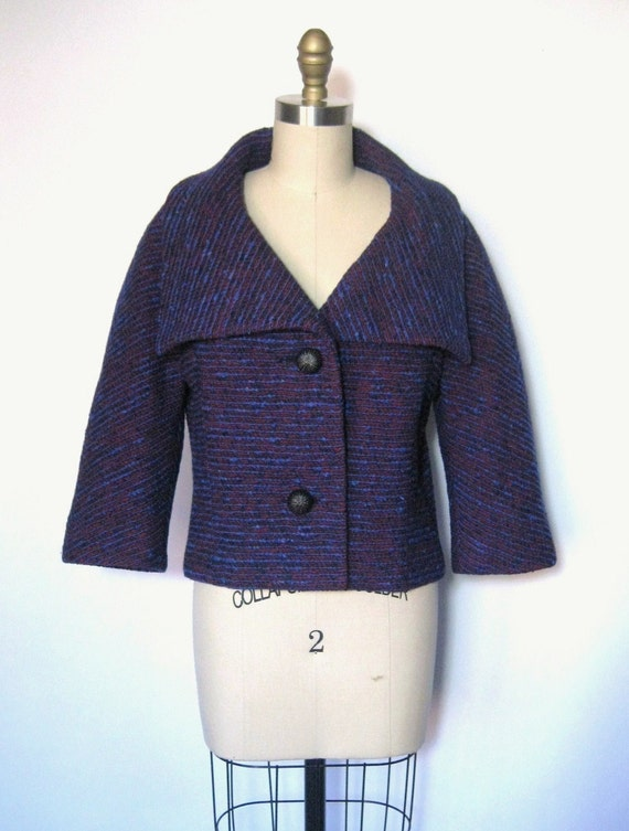 RESERVED 1960's Saks Fifth Avenue Mod Woven Cropped Boucle Jacket