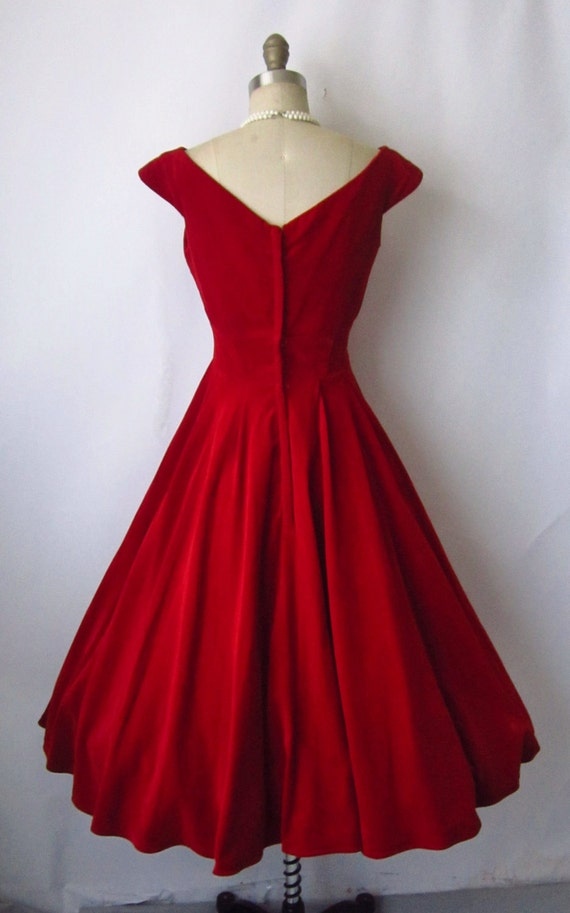STOREWIDE SALE 50's Cocktail Dress // Vintage 1950's