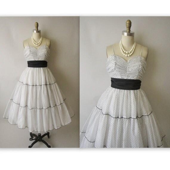 Flocked Vintage Chiffon Gown //  Flocked White Chiffon Wedding Party Prom Dress XS XXS