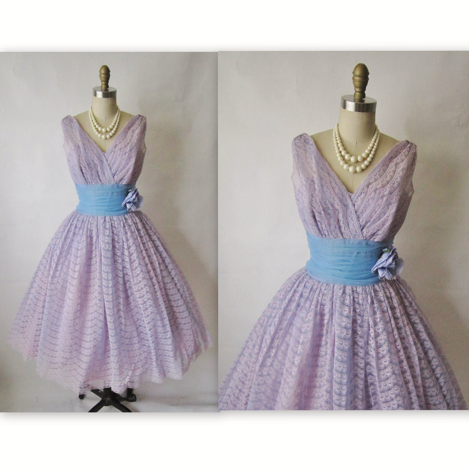 Vintage purple dress Etsy