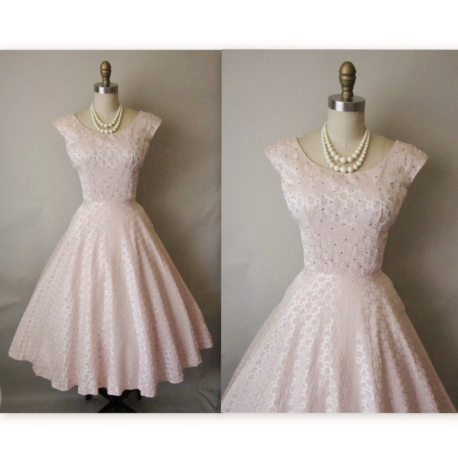 50 39 s cocktail dress vintage 1950 39 s pink brocade