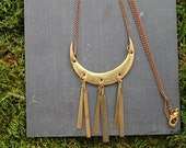 vintage metal tribal aztec necklace part deux