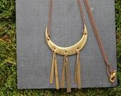 vintage metal tribal aztec necklace part deux