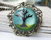 Black Tree necklace