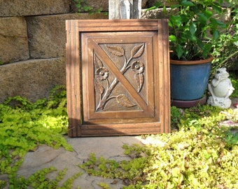 Cabinet Door Sale Vintage Wood Door/ HAND CARVED Cabinet DOOR, Vintage Carved Cabinet Door