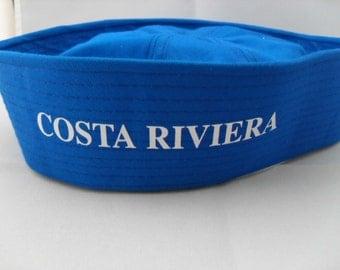 Sailor Hat / Costa Riviera Sailor / Vintage Sailor Hat / New Listing