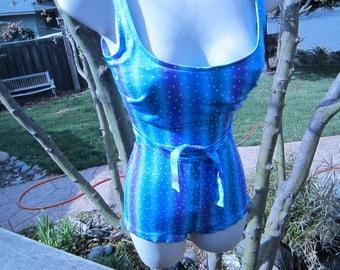 Vintage Swimsuit, Boy Cut Shorts, One Piece Swimsuit