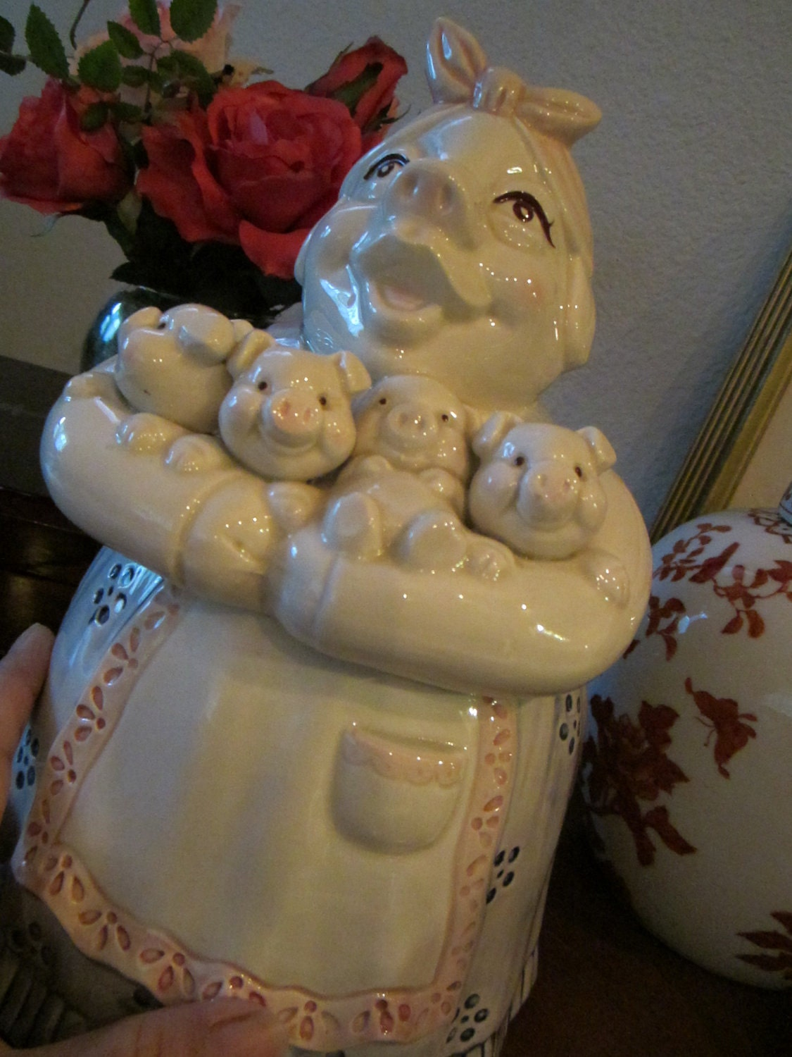 Reserve For Susie Only Vintage Cookie Jar By