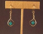 Blue Jade Twist Earrings