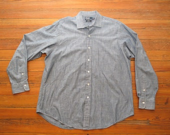 polo chambray spread collar shirt