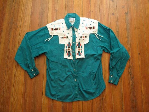 women's vintage Wrangler Western Wear for Women button up.