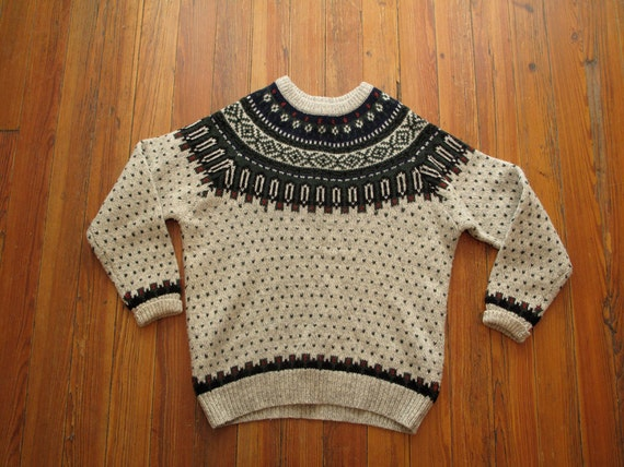 mens vintage woolrich fair isle sweater