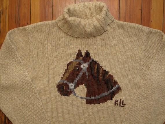 women's vintage Ralph Lauren horse sweater.