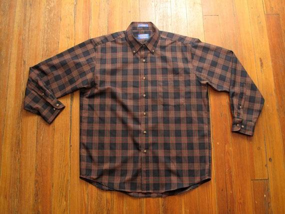 mens pendleton tartan button down shirt