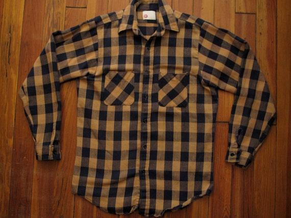 mens vintage sears flannel work shirt