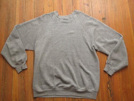 mens vintage heather grey sweatshirt