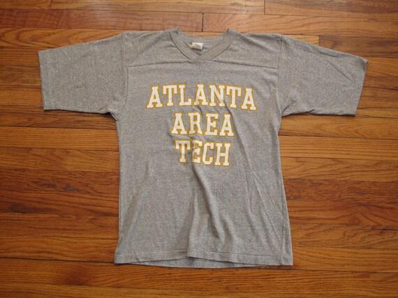 vintage heather grey football t shirt