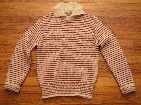 women's vintage L.L. Bean striped wool sweater.