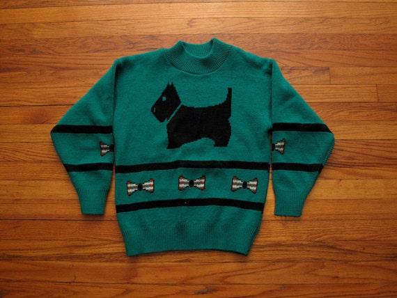 women's vintage scottie dog sweater.