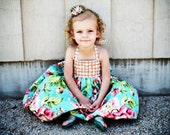 Girls Dress sewing pattern PDF tutorial Lace up Halter Bubble children's dress INSTANT DOWNLOAD