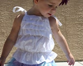 Kid's Bubble Ruffle Shirt girl's clothing sewing PDF tutorial pattern by Tenderfeet Stitches INSTANT DOWNLOAD