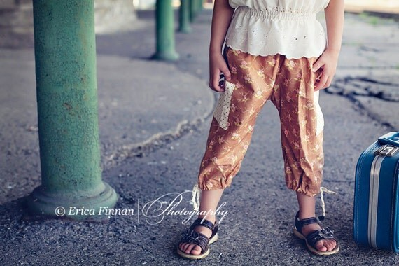Drawstring Cargo Pants short mid and full length boys girls kids sewing tutorial PDF pattern INSTANT DOWNLOAD