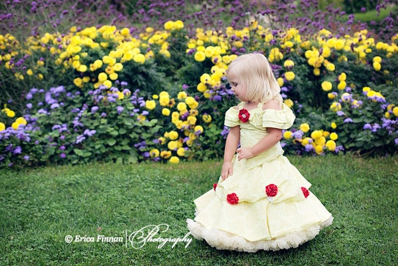 Belle of the Ball Gown children's costume girl's clothing sewing tutorial PDF pattern by Tenderfeet Stitches INSTANT DOWNLOAD