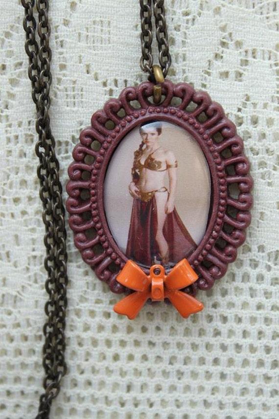 SALE - Star Wars Necklace - PRINCESS LEIA - Jabba's Slave Costume