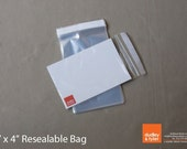 3 x 4 inch Clear Resealable Cello Plastic Bags - Set of 50