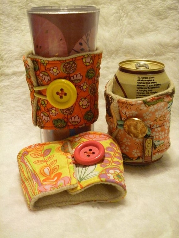 Reusable Upcycled Drink Cozies