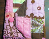 Quilted Fabric Book or Bible Cover