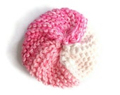 Dish Scrubbie Vegan Spiral in Pink and White Tribble Tawashi