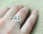 Celtic Knot Ring Silver Aluminum Ring Pretzel Ring Love Ring Friendship Ring Wire Wrap Jewelry Gifts Under 10