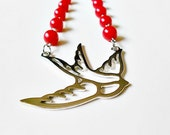 Red Sparrow Necklace
