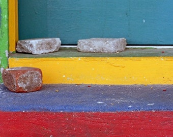 The Cosmic Doorstep the Path to Happiness A Fine Art Photo of Primary Colors