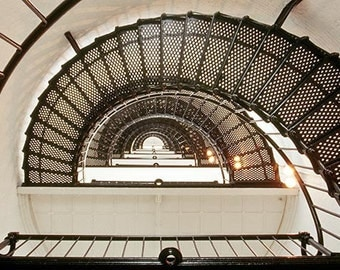 A Circular Staircase In a Lighthouse On Florida's East Coast  Photo