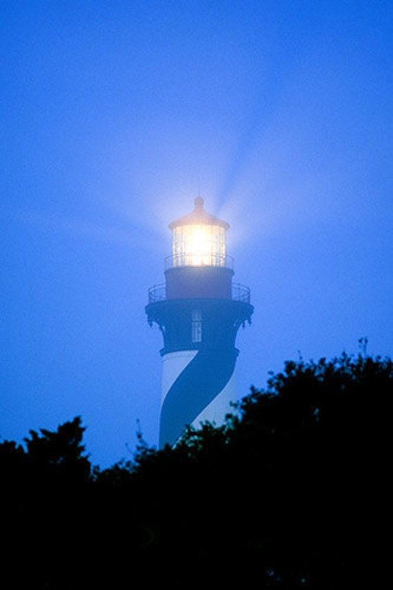 The lighthouse at Saint Augustine in the Fog Fine Art Photo