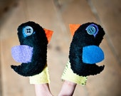 blackbirds finger puppets