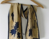 Autumn Leaves Camel and Navy Vera Scarf