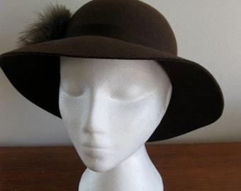 Feathers and Felt Miss Selfridge Hat