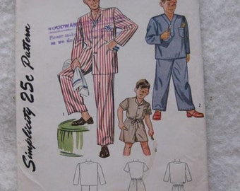 40% Off SALE - Simplicity Boys Pyjama Pattern 1514 - was 12/now 7.20