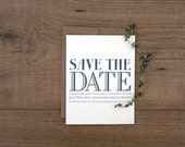 Printable / Vintage Modern Wedding Save the Date  / (DIY)
