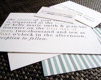 """The """"Modern Clean"""" Printable Wedding Invitation Kit - digital file, customize your color"""