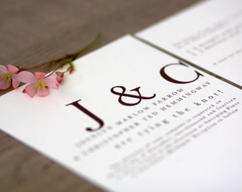 Playful Typography Essentials / Printable Wedding Invitation Kit (DIY)