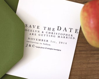 Printable / Playful Typography Wedding Save the Date / (DIY)